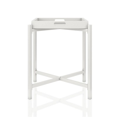 Coco Side Tray Table White - CosmoLiving by Cosmopolitan