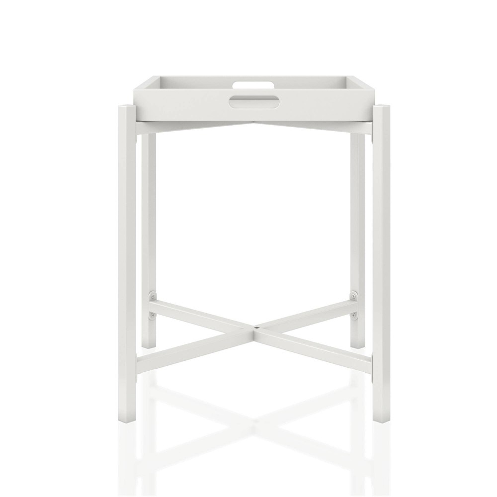 Image of Coco Side Tray Table White - CosmoLiving by Cosmopolitan
