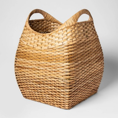 Large Basket with Curved Handles Natural Khaki 19.75 x15.75  - Threshold™