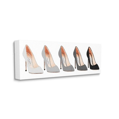 Stupell Industries Fashion Heels Glam Minimal Grey Shoes