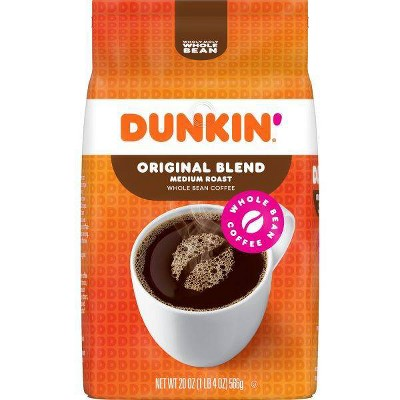 Dunkin' Donuts Medium Roast Whole Bean Coffee - 20oz