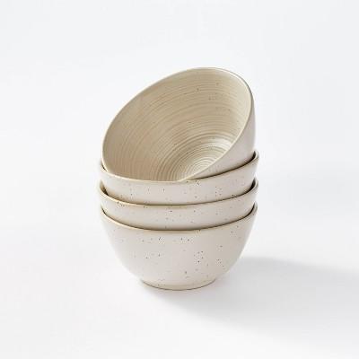 23oz 4pk Stoneware Glazed Salad Bowls Cream – Threshold™ designed with Studio McGee
