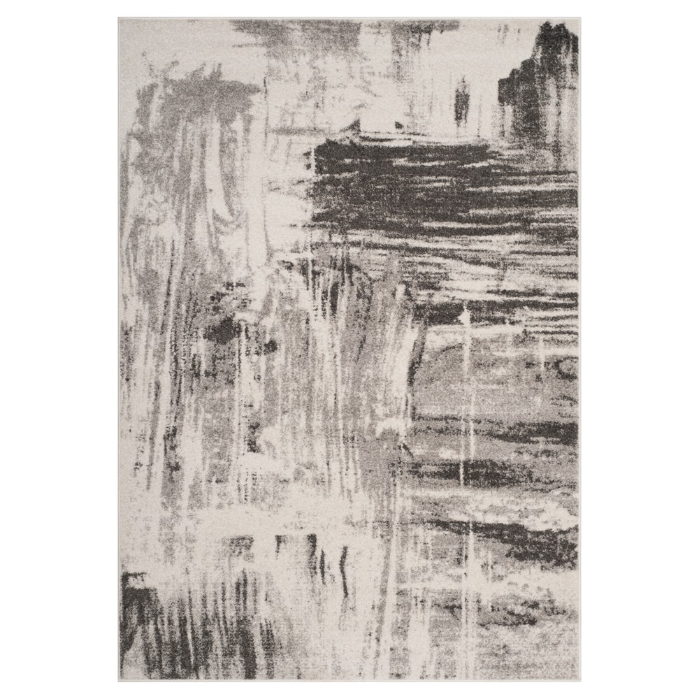 Ivory/Gray Solid Loomed Area Rug 8'X10' - Safavieh, White Gray