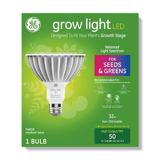 General Electric PAR38 Grow Light With Balanced Spectrum Seeds & Greens LED Light Bulb - Clear