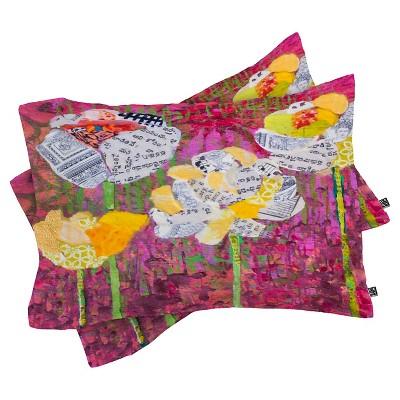Elizabeth St Hilaire Nelson Mums Lightweight Pillowcase Standard Purple - Deny Designs