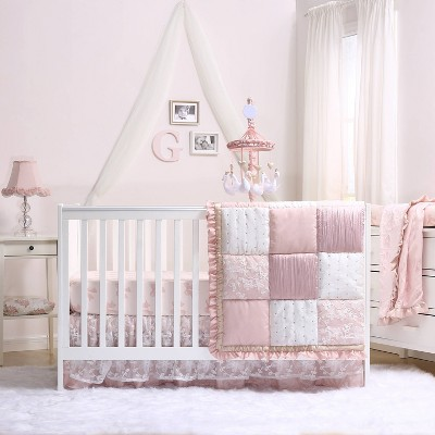 The Peanutshell Grace 4pc Crib Set