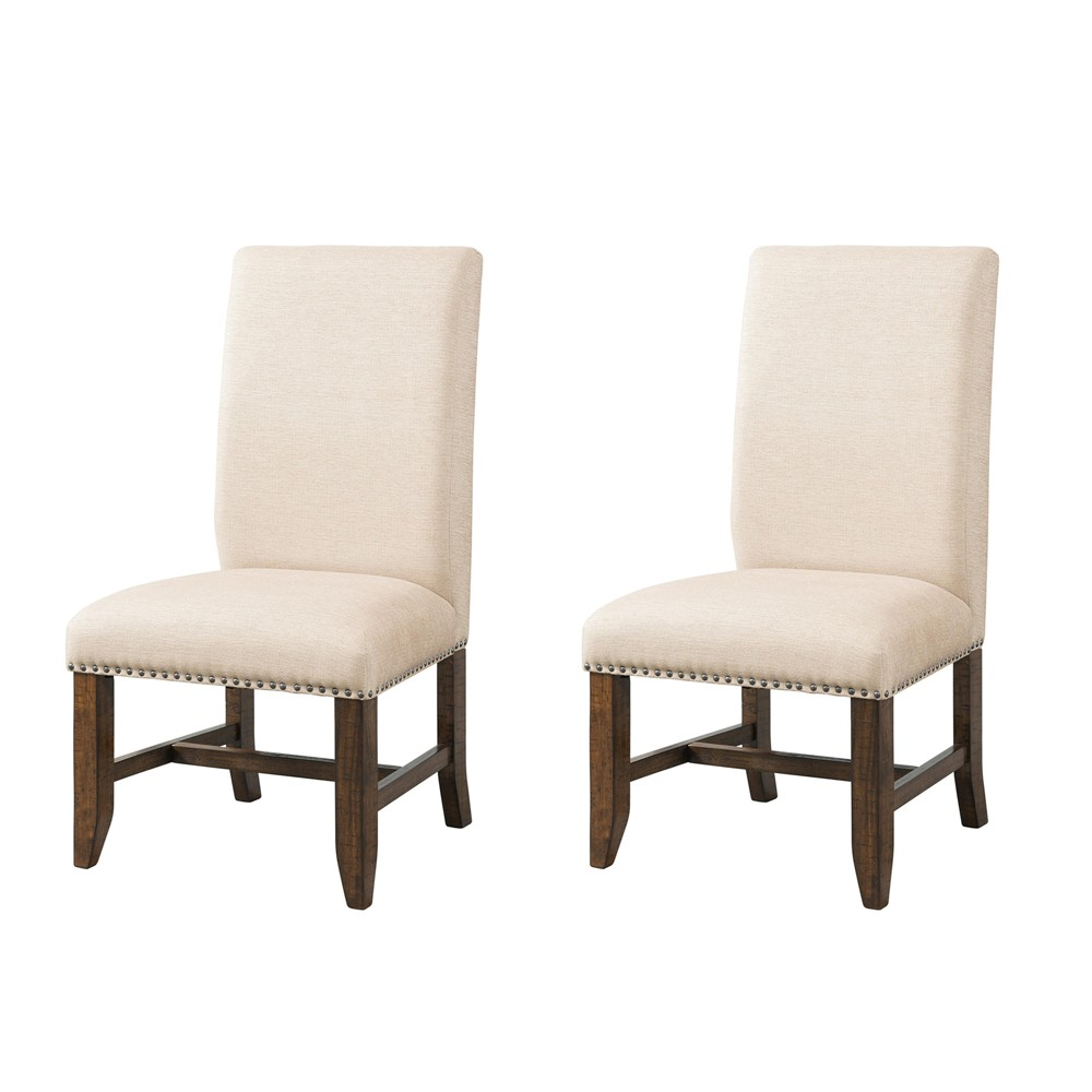 Francis Upholster Side Chair Set Cream - Picket House Furnishings