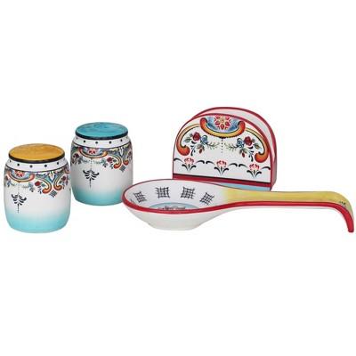 4pc Earthenware Zanzibar Tableware Set - Euro Ceramica