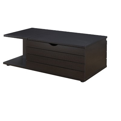 Yara Contemporary Slide Top Coffee Table Cappuccino - HOMES: Inside + Out