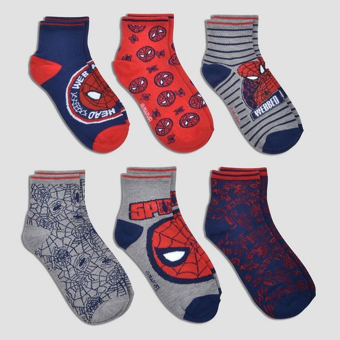 Kids' Spider-Man Ankle Socks - image 1 of 1