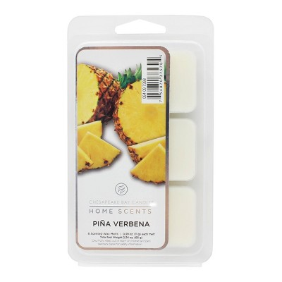 6pk Wax Melts Piña Verbena - Home Scents by Chesapeake Bay Candle