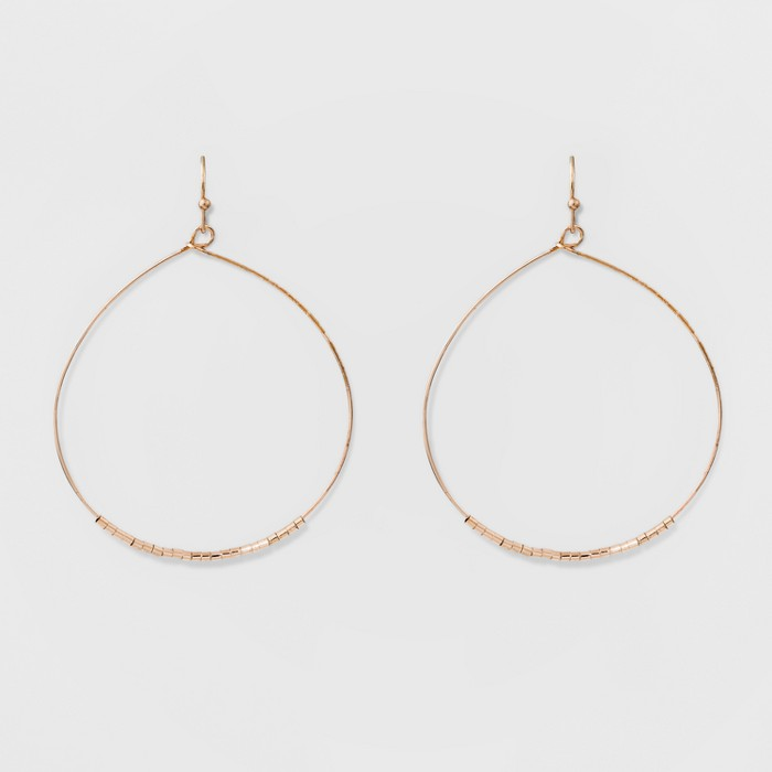Front Facing Hoop Earrings - A New Day™ Rose Gold - image 1 of 2