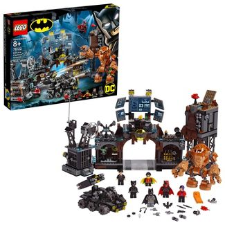 LEGO Super Heroes Batcave Clayface Invasion 76122 Batman Toy Building Kit with Minifigures
