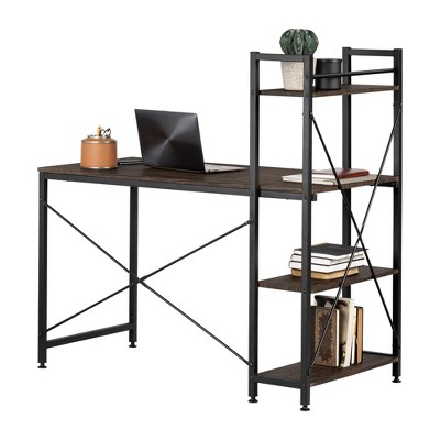Evane Industrial Desk with Bookcase - South Shore