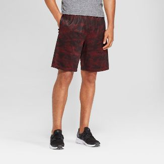 Men's Camo Print Circuit Shorts - C9 Champion® Burgundy Evening Camo Maze M