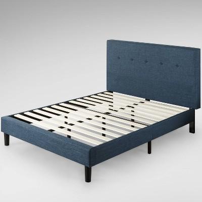 Omkaram Upholstered Platform Bed Frame Blue - Zinus