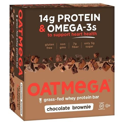 Oatmega Omega-3 Protein Bar - Brownie Crisp - 12ct - image 1 of 2
