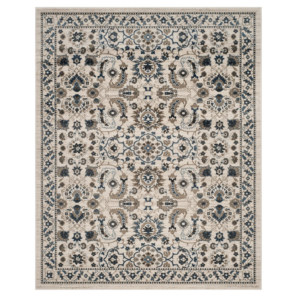 Blue Cream Floral Loomed Area Rug 9'x12' - Safavieh