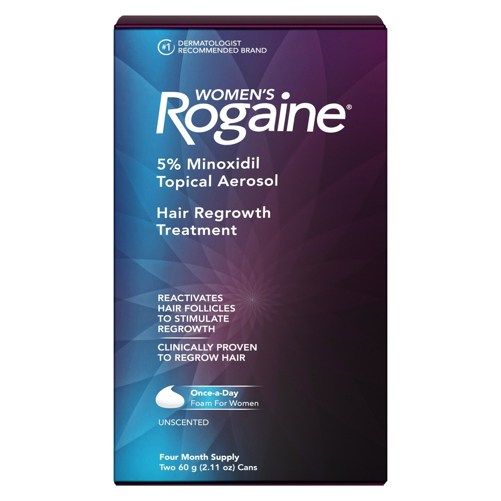 Image of Women's Rogaine 5% Minoxidil Foam for Hair Regrowth - 4 Month Supply