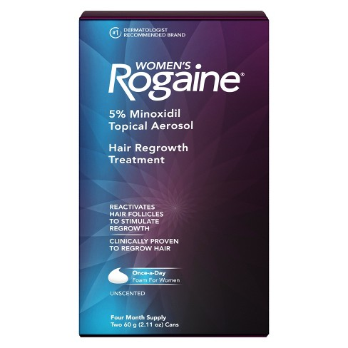 Women's Rogaine 5% Minoxidil Foam for Hair Regrowth - 4 Month Supply - image 1 of 4