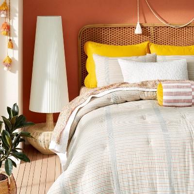 Yarn Dyed Gauze Stripe Comforter & Sham Set Cream - Opalhouse™ designed with Jungalow™