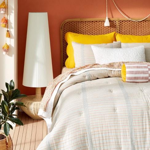 Yarn Dyed Gauze Stripe Comforter & Sham Set Cream - Opalhouse™ designed with Jungalow™ - image 1 of 4