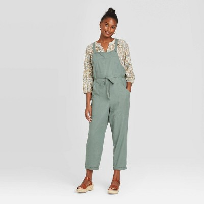 Women's Sleeveless Square Neck Belted Overalls - Universal Thread™