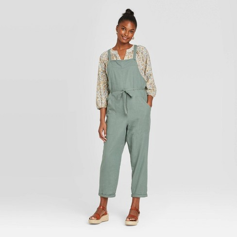 Women's Sleeveless Square Neck Belted Overalls - Universal Thread™ - image 1 of 3