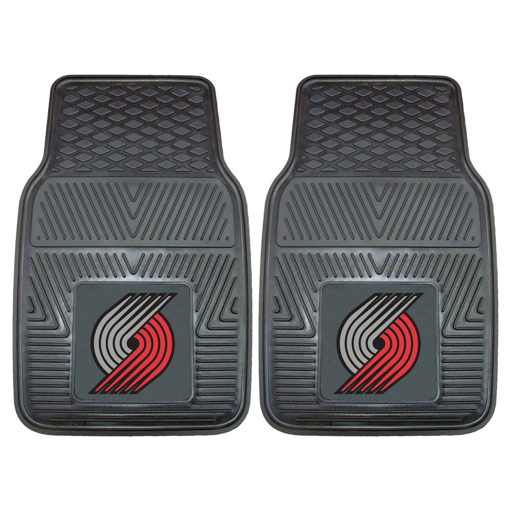 NBA Portland Trail Blazers 2pc Vinyl Car Mats 17