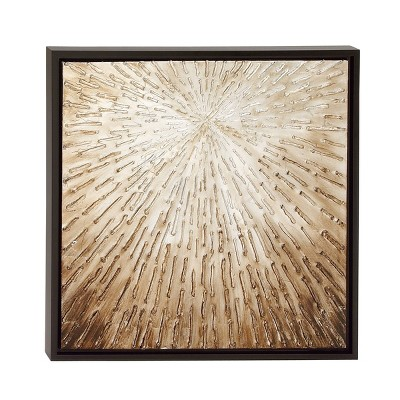 """24"""" x 24"""" Modern Abstract Textured Canvas Art with Fir Wood Frame - Olivia & May"""