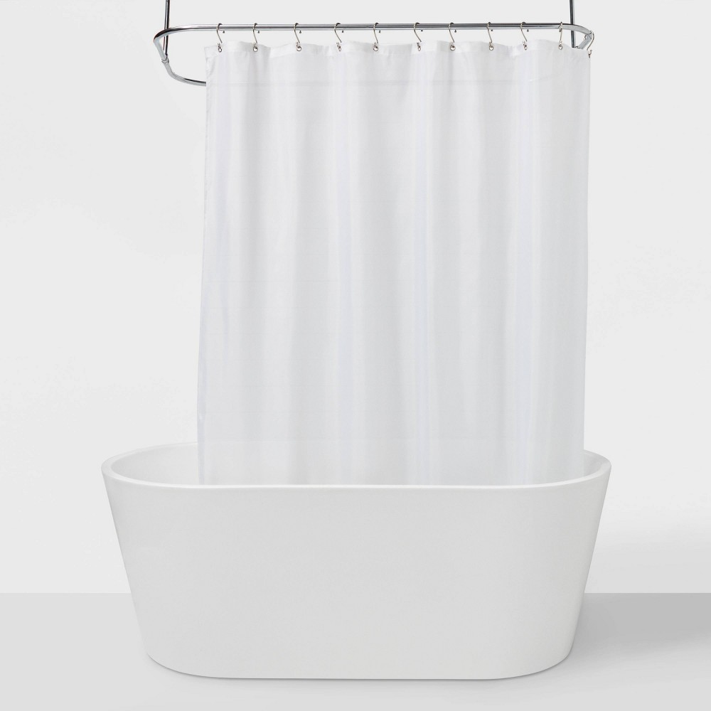 "Image of ""71""""x71"""" Fabric Shower Liner White - Made By Design"""