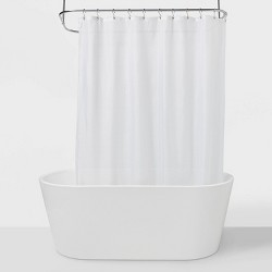 "71""x71"" Fabric Shower Liner White - Made By Design™"