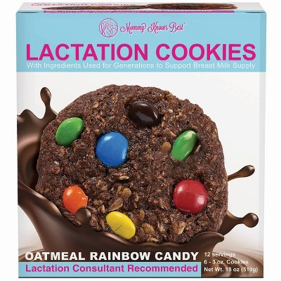 Mommy Knows Best Ready To Eat Oatmeal Chocolate Rainbow Candy Chip Lactation Cookies - 6ct