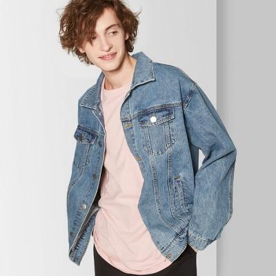 Men's Long Sleeve Vintage Wash Jean Jacket - Original Use™ Indigo