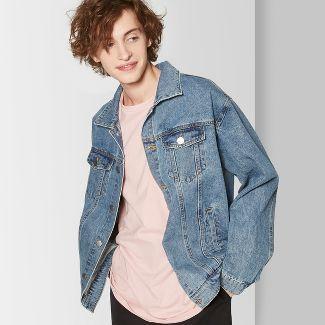 Mens Long Sleeve Vintage Wash Jean Jacket - Original Use™ Indigo M