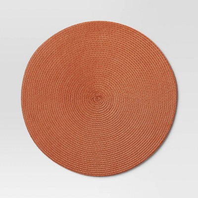 Polyround Charger Placemat Orange - Threshold™