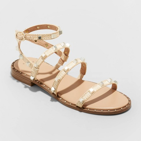 Women's Astrid Studded Strappy Sandals - A New Day™ - image 1 of 4