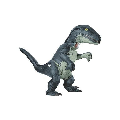 Adult Jurassic World Fallen Kingdom Velociraptor Inflatable Halloween Costume With Sound - image 1 of 1