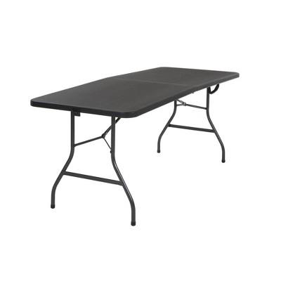 30  Fold-in-Half Blow Molded Folding Table Black - Room & Joy