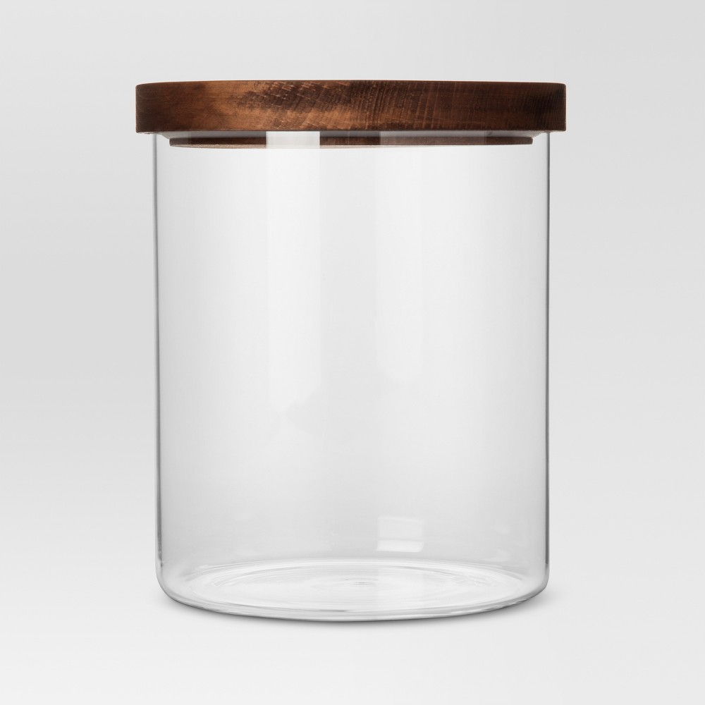 Image of 105oz Glass Storage Canister with Wood Lid - Threshold