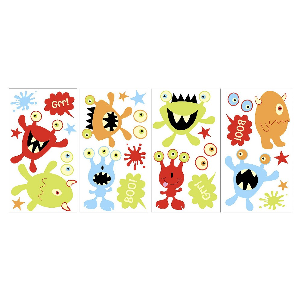 Image of WallPops! Glow in the Dark Monsters Decals, Multi-Colored