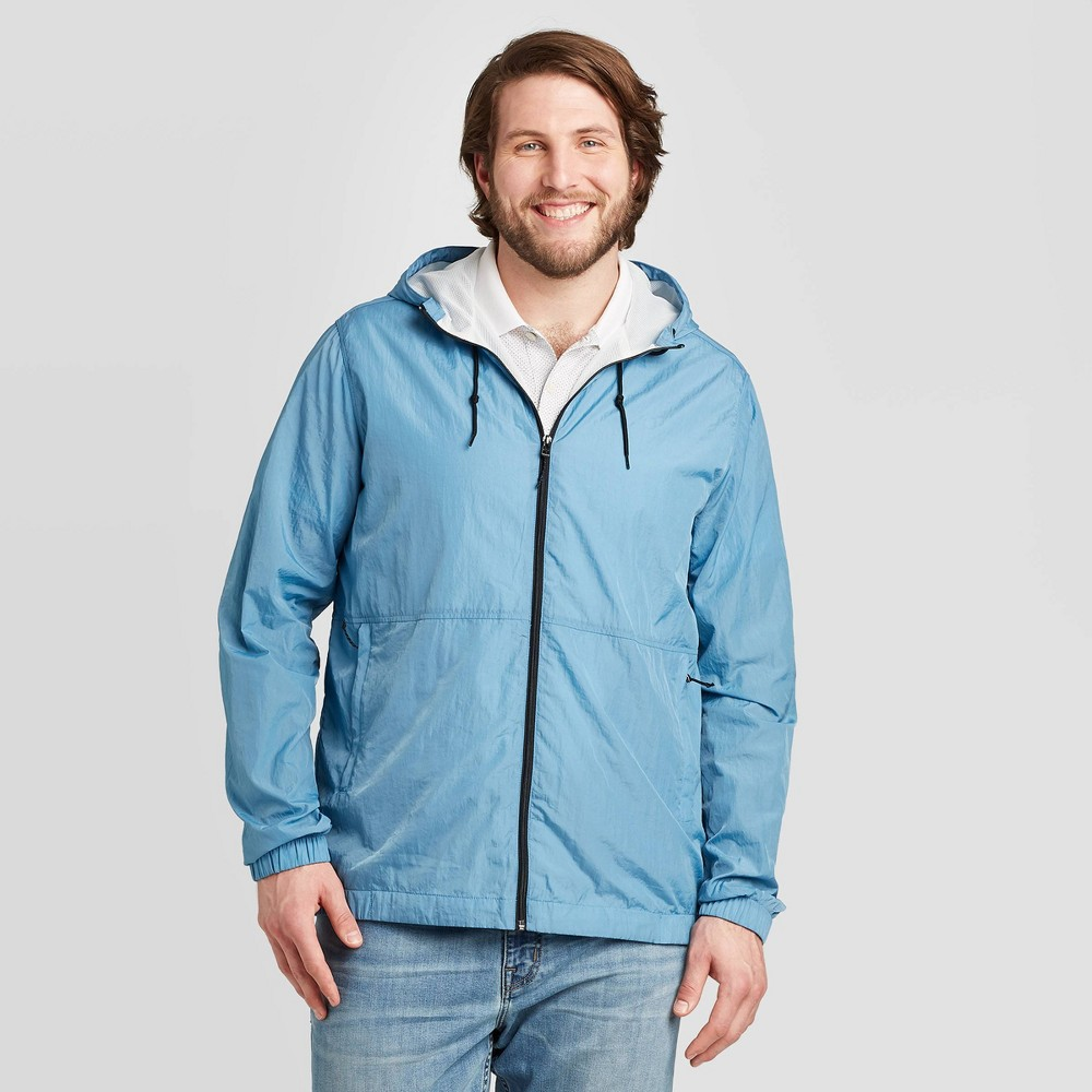 Men's Vintage Style Coats and Jackets Men39s Big 38 Tall Tech Windbreaker Jacket - Goodfellow 38 Co8482 $34.99 AT vintagedancer.com