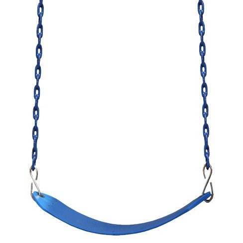Gorilla Playsets Deluxe Swing Belt With Coated Chain Swing Set Accessory Blue