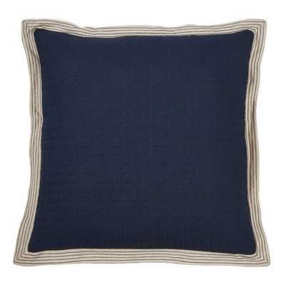 Down Filled Quilted Pillow   Saro Lifestyle by Saro Lifestyle