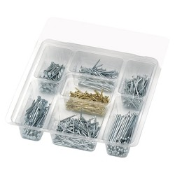 Liberty 485pc Utility Nail/Brads Assortment Hardware Fastener Sets