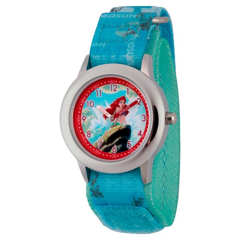 Girls' Disney Princess Ariel Watch - Blue - image 1 of 2