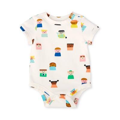 Baby Kids-Print Shoulder Button Short Sleeve Bodysuit - Christian Robinson x Target White