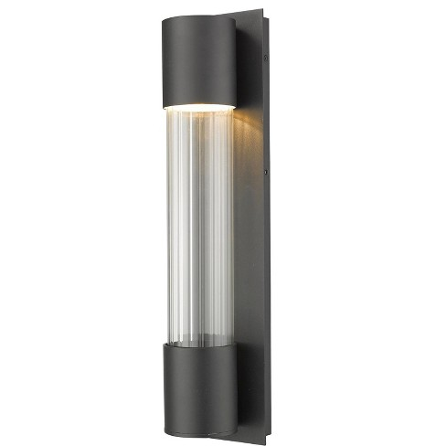 """Z-Lite 575M-LED Striate 21"""" Tall LED Outdoor Wall Sconce - image 1 of 4"""