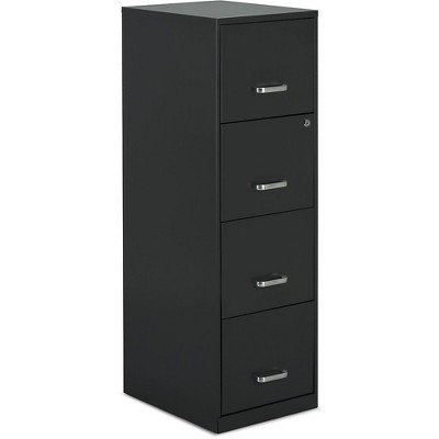 """Staples 4-Drawer Vertical File Cabinet Charcoal Letter 18"""" D (52148) 16255/52148"""
