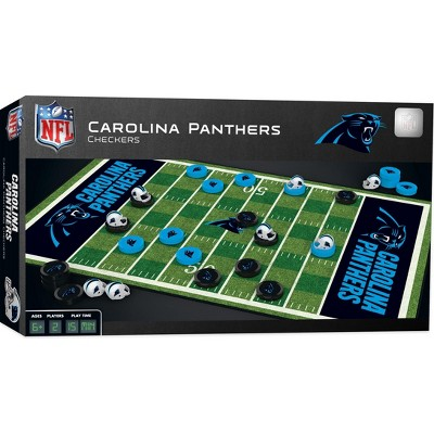 MasterPieces NFL Carolina Panthers Checkers Board Game